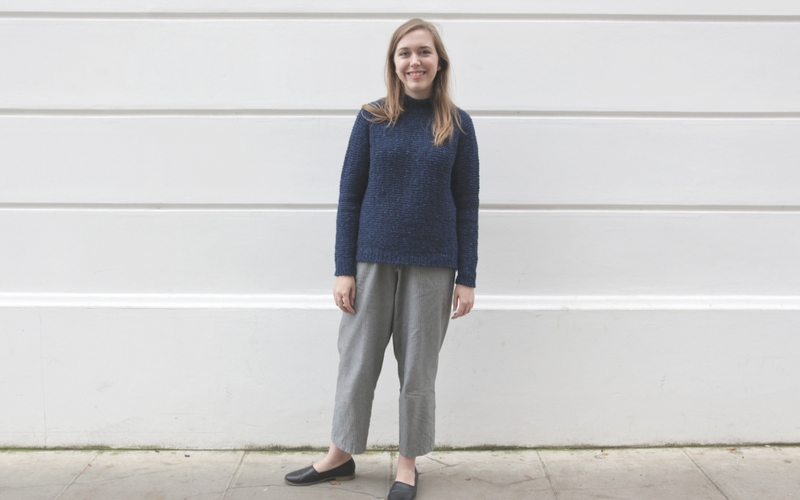 Shorthand Sweater Pattern by Clare Mountain
