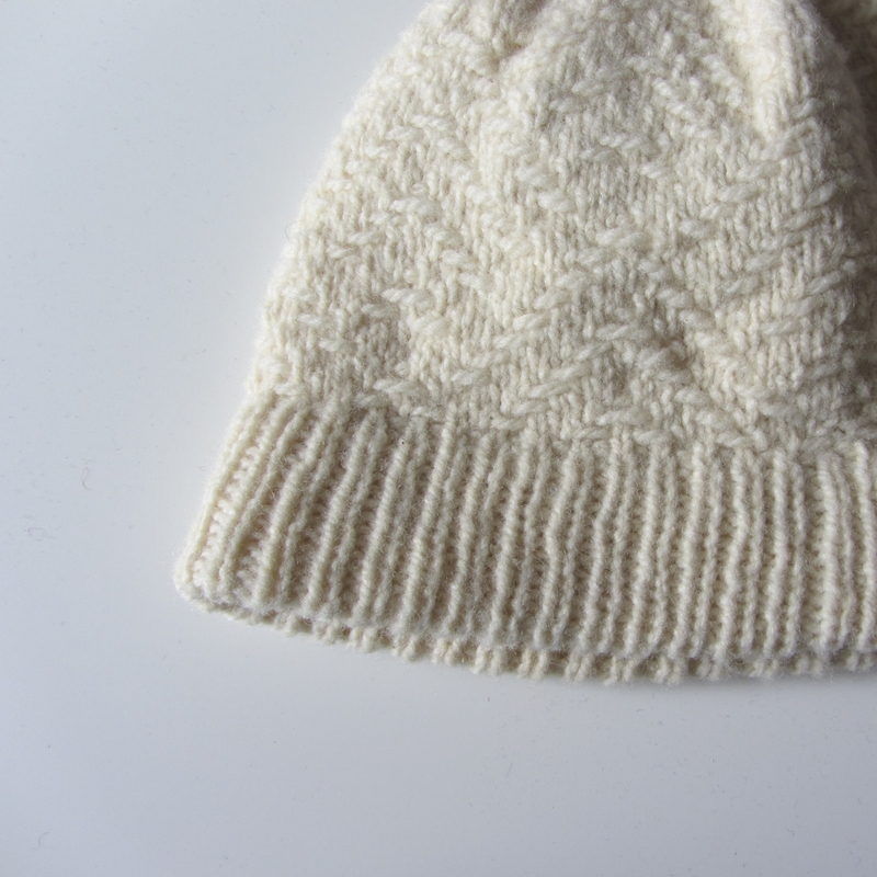 My Bowman hat pattern, releasing on 21st November, uses a provisional cast-on to create a folded rib trim.