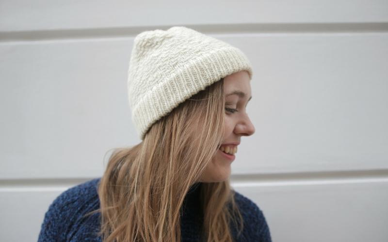 Slipped Stitch Hat Knitting Pattern
