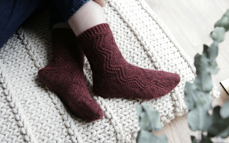 My Bronte socks would make the perfect Christmas Eve cast-on. The stitch is easy to remember and quick to knit!