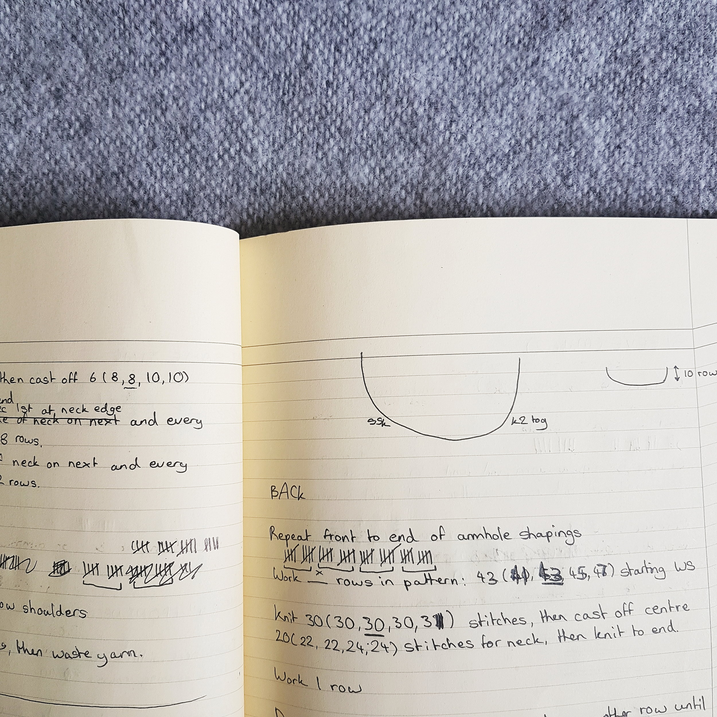 I used to design my patterns in a notebook. Now, I tend to use mostly digital methods - although you can often find me testing things out on paper!
