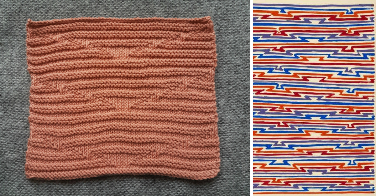 I designed this stitch from scratch last year. It's very effective, but just uses simple double garter stitch.