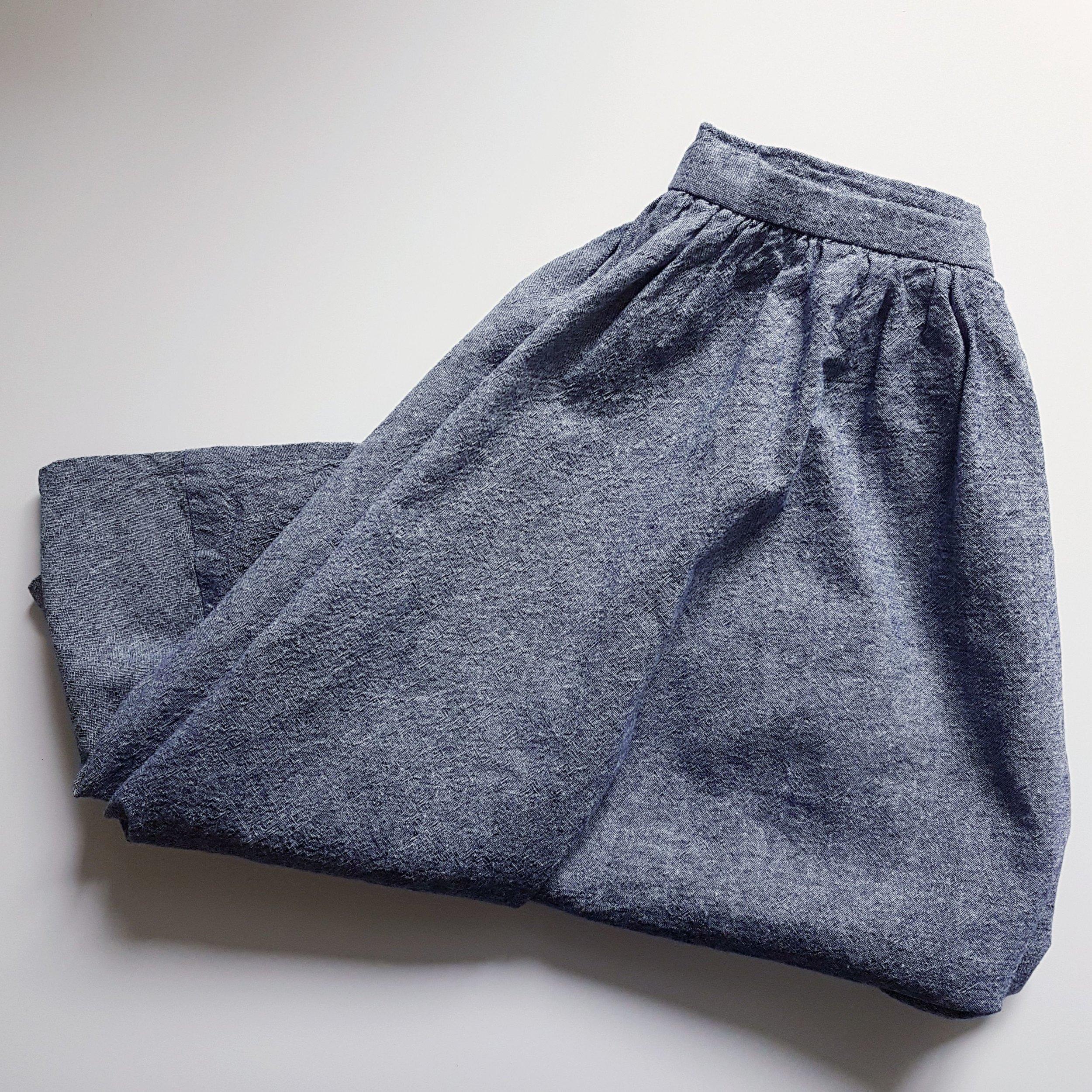Zinnia Skirt in Robert Kaufmann Chambray Linen