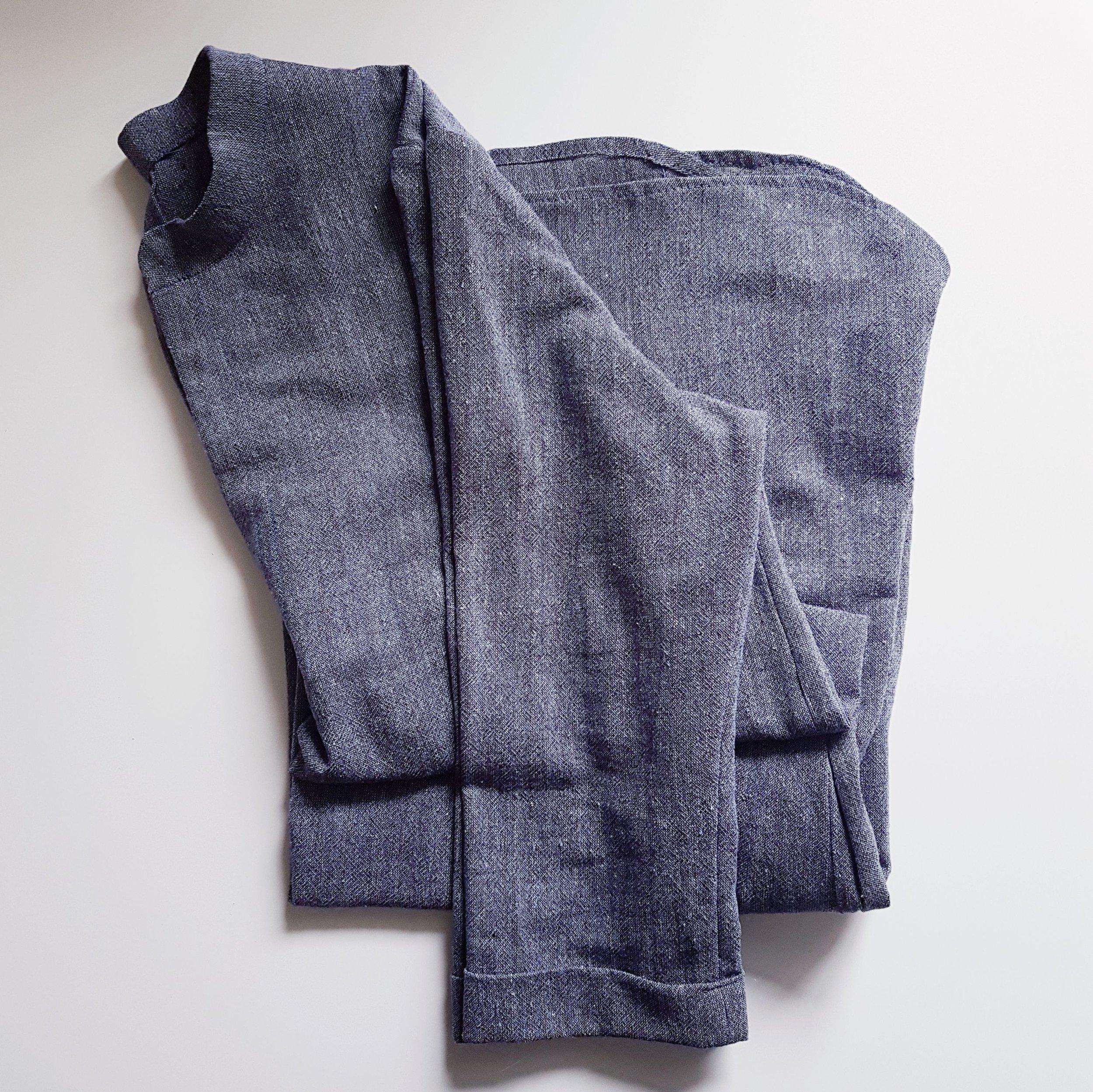Gallery Dress in Handwoven Indigo Linen