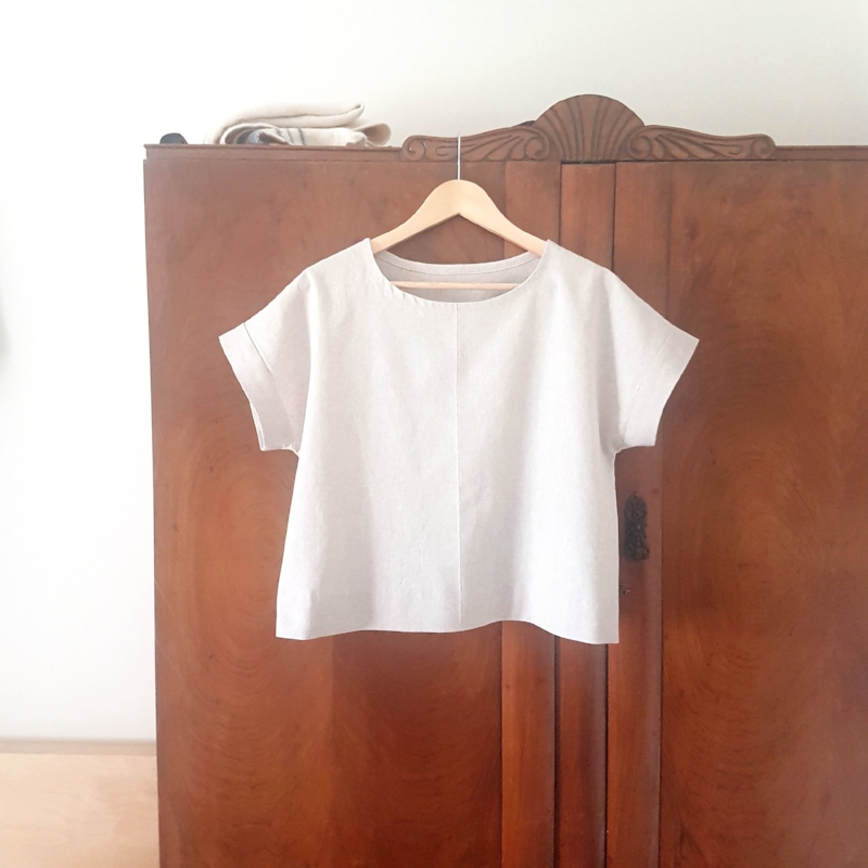 One of my most recent makes: a Maya Top with hacked cuffs by Marilla Walker.