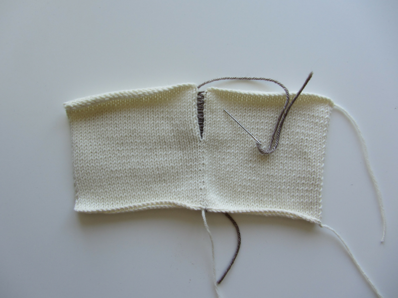 Even though I am using a contrasting yarn, the mattress stitch seam is barely visible.