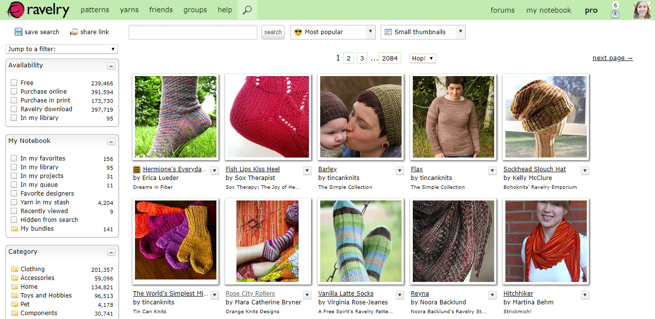 These are the most popular patterns on Ravelry as screenshot on 26th July 2019. Notice the theme? Simple.