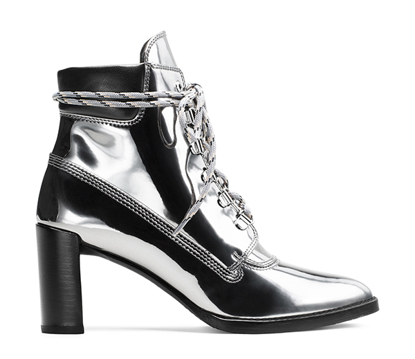 GIGI High Shine Specchio Leather in Iron Grey, £460/$565