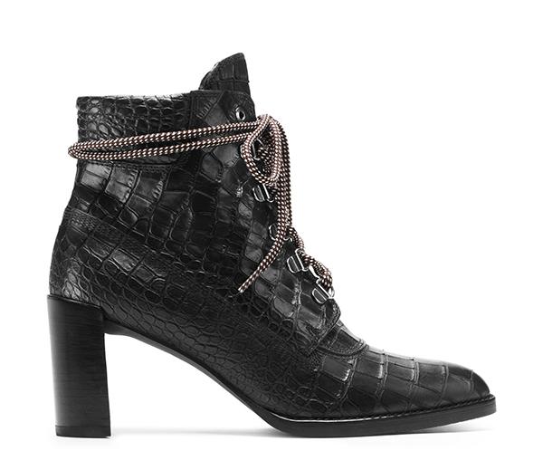 GIGI Croco-Embossed Leather in Black, £460/$565