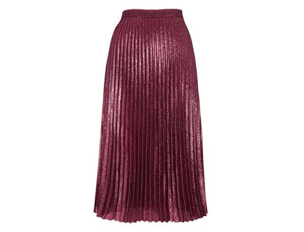 WHISTLES -Kitty Metallic Pleated Skirt, £140