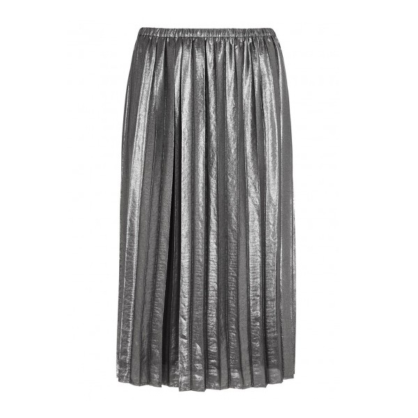 ISABEL MARANT ÉTOILE - Madlen Silver Pleated Lamé Skirt, £245