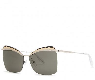 ALEXANDER MCQUEEN - Silver tone butterfly-frame sunglasses, £336