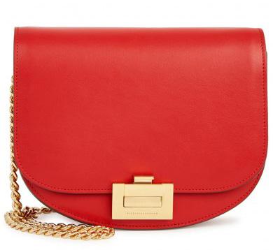 VICTORIA BECKHAM - Red leather shoulder bag, £1,150