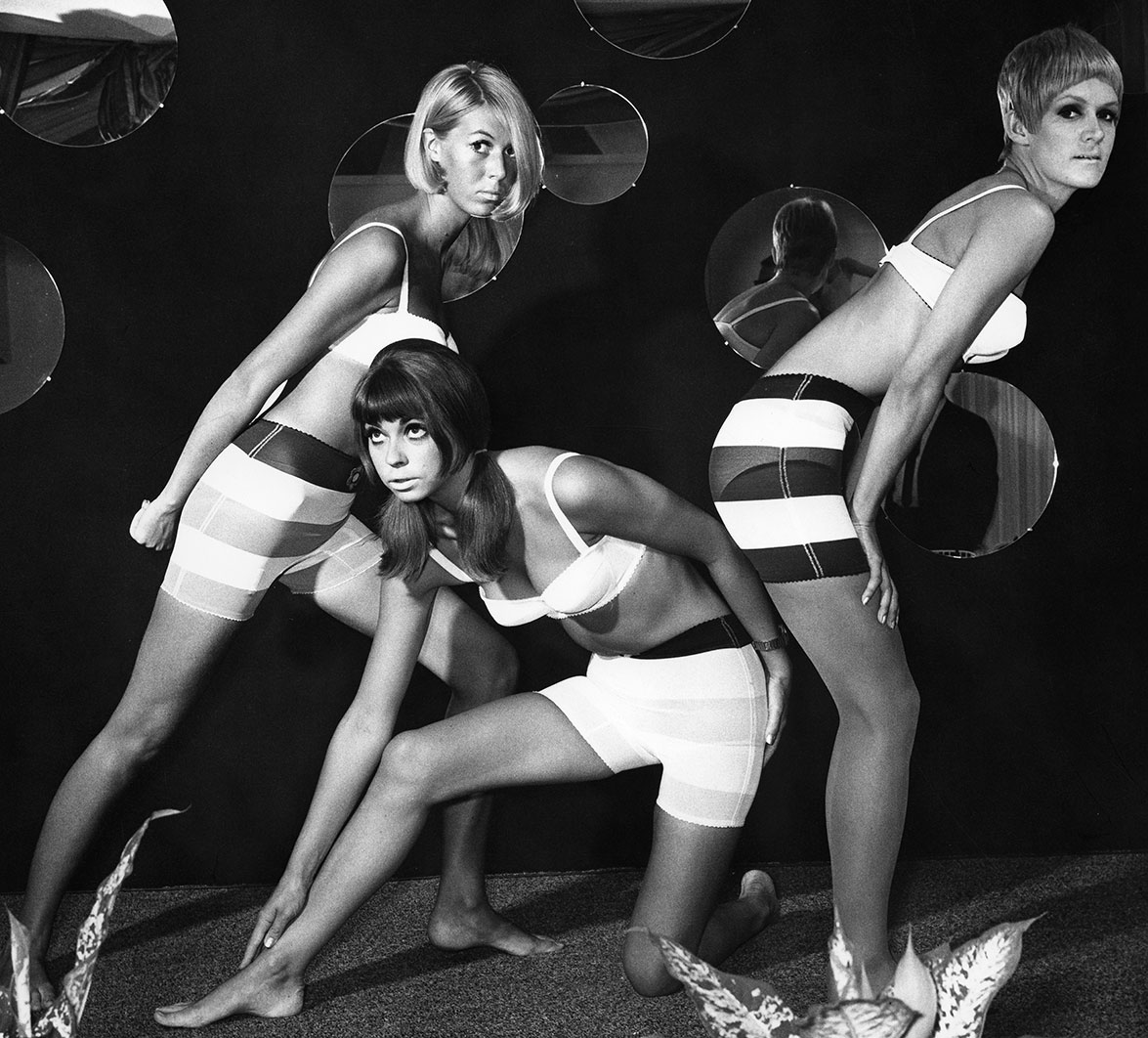 Three models wearing underwear designed by Mary Quant, c. 1966  © Otfried Schmidt/ullstein bild/Getty Images