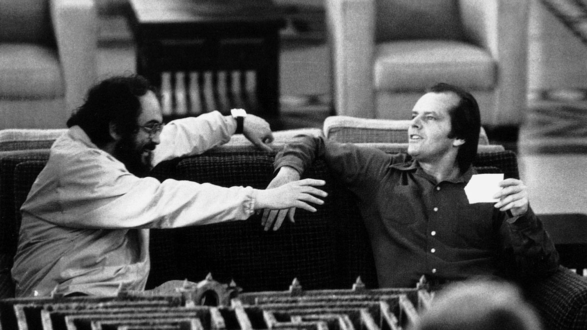 The Shining, directed by Stanley Kubrick (1980; GB/United States). Stanley Kubrick and Jack Nicholson on the set of The Shining. © Warner Bros. Entertainment Inc.