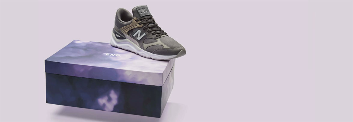 END. X NEW BALANCE MSX90RPP 'PURPLE HAZE' Dark Grey & Light Grey £109