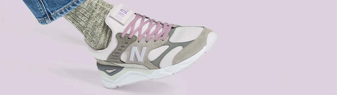 END. X NEW BALANCE MSX90RPL 'PURPLE HAZE' . Lilac & Grey £109