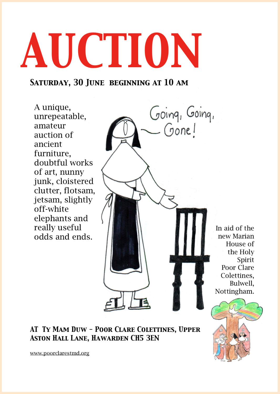 """Flyer for """"unique,unrepeatable"""" auction"""