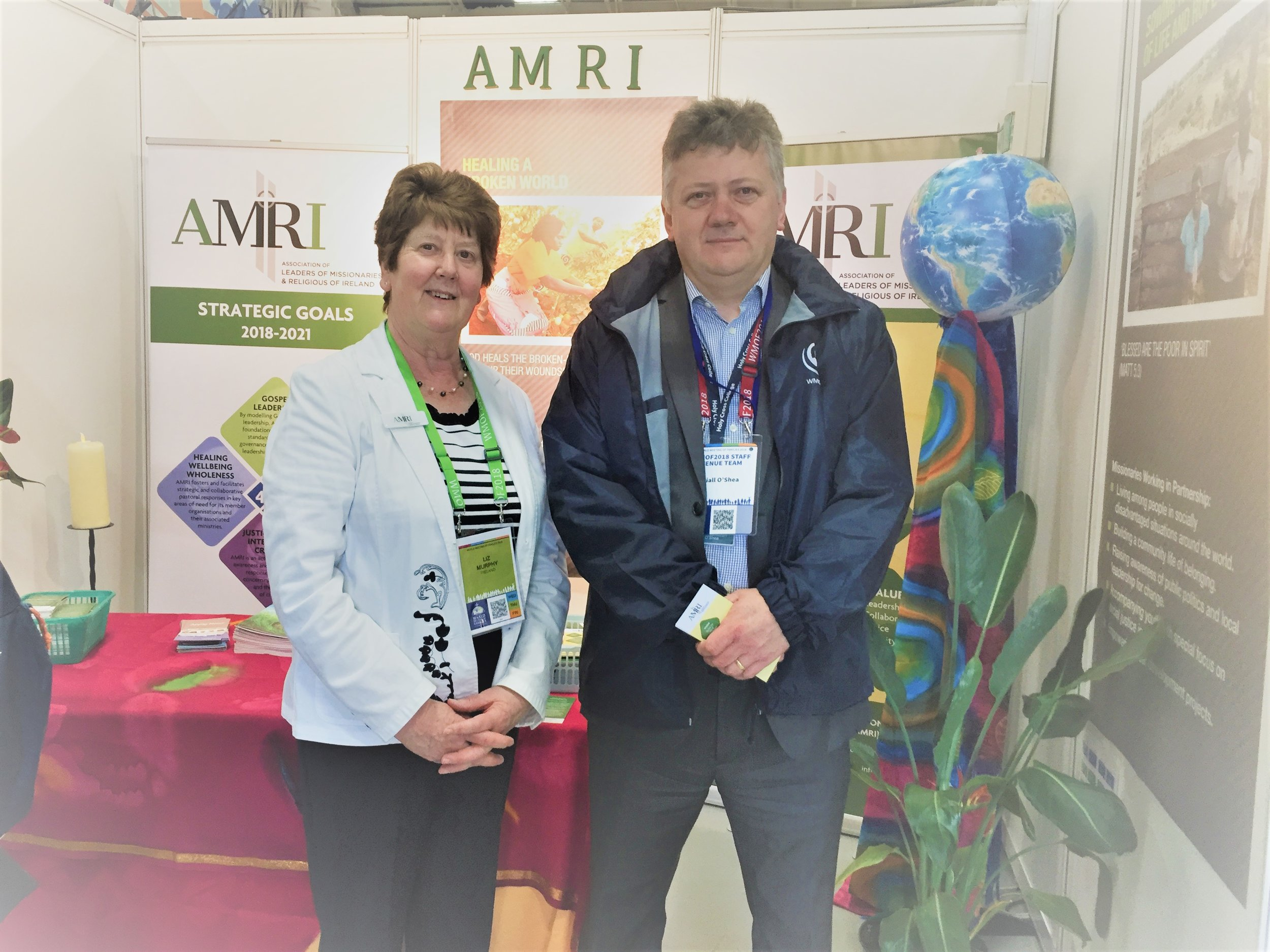 Sr Liz Murphy with Niall O'Shea, seconded by Bank of Ireland to WMOF for 2 years