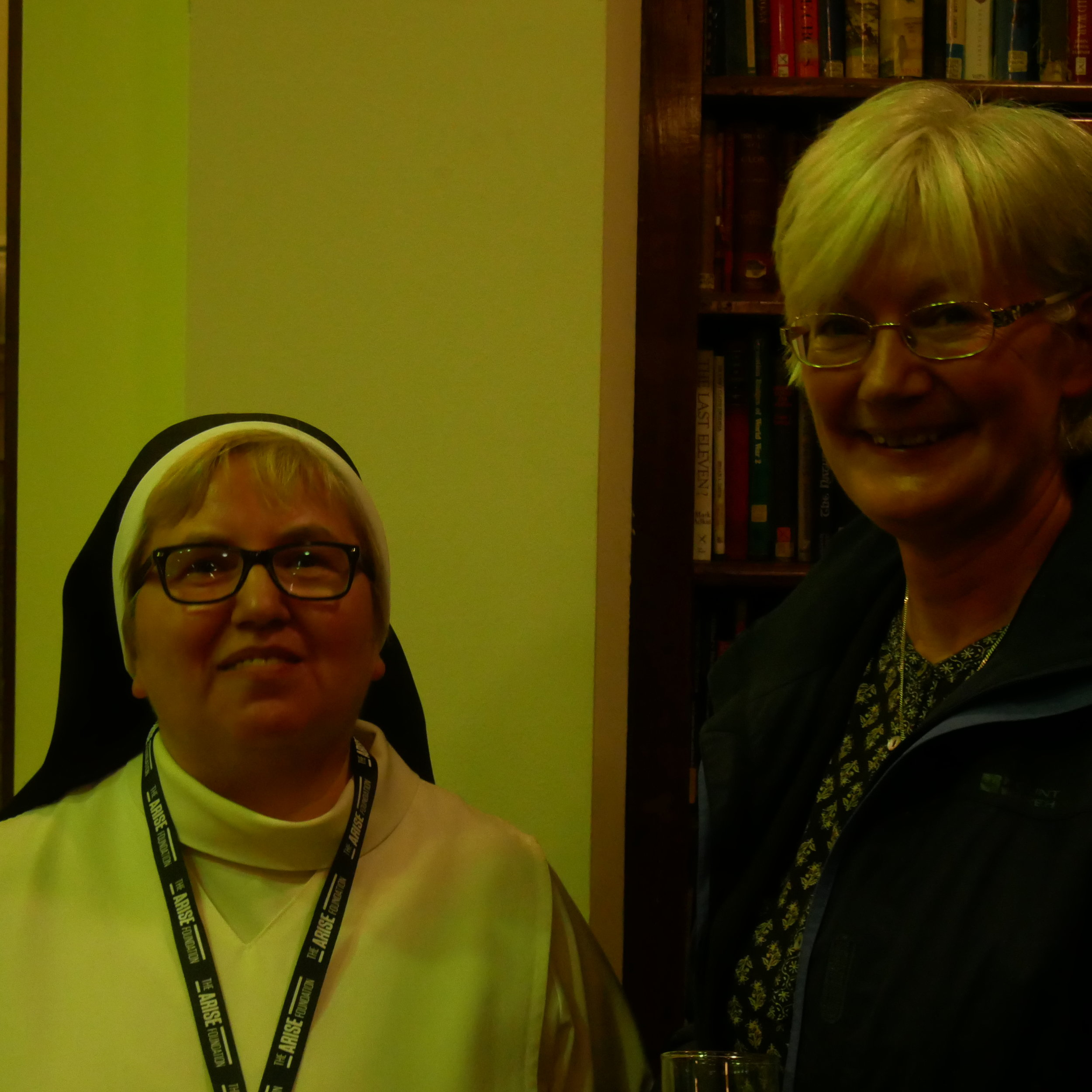 Sister Dominica Popach OP (left) with Sr Sheila Barrett DMJ