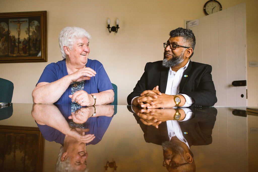 Sr Ita Keane with Saidul Haque Saeed of Citizens UK Bham