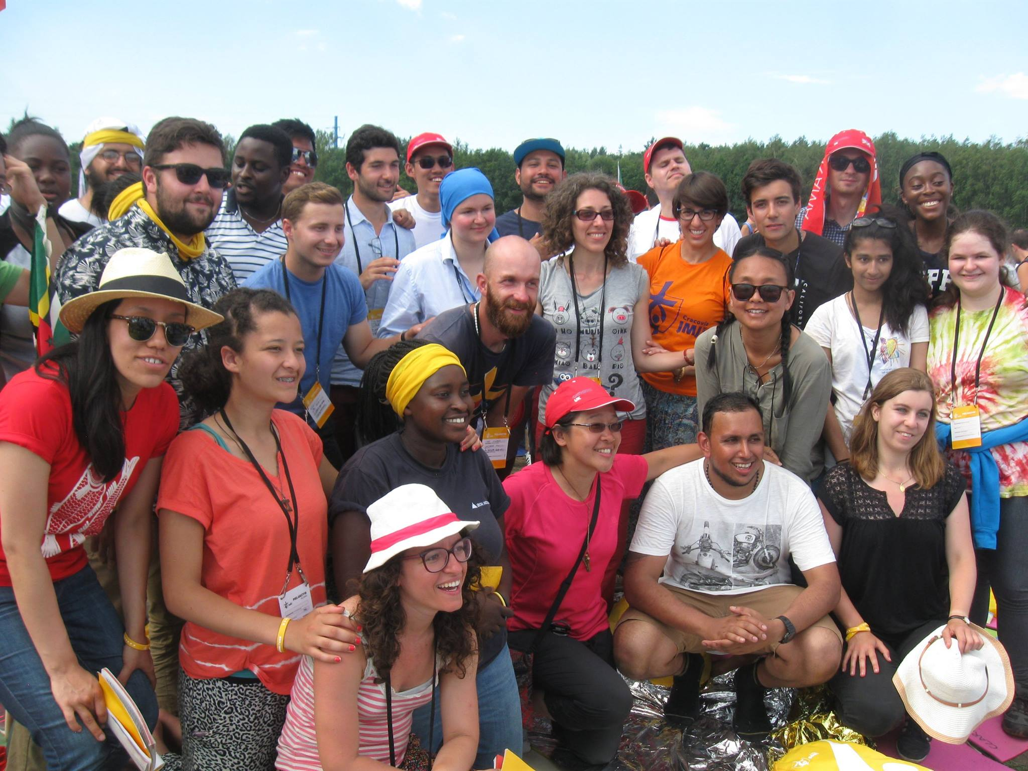 Sr Valentina, centre (grey top) at World Youth Day