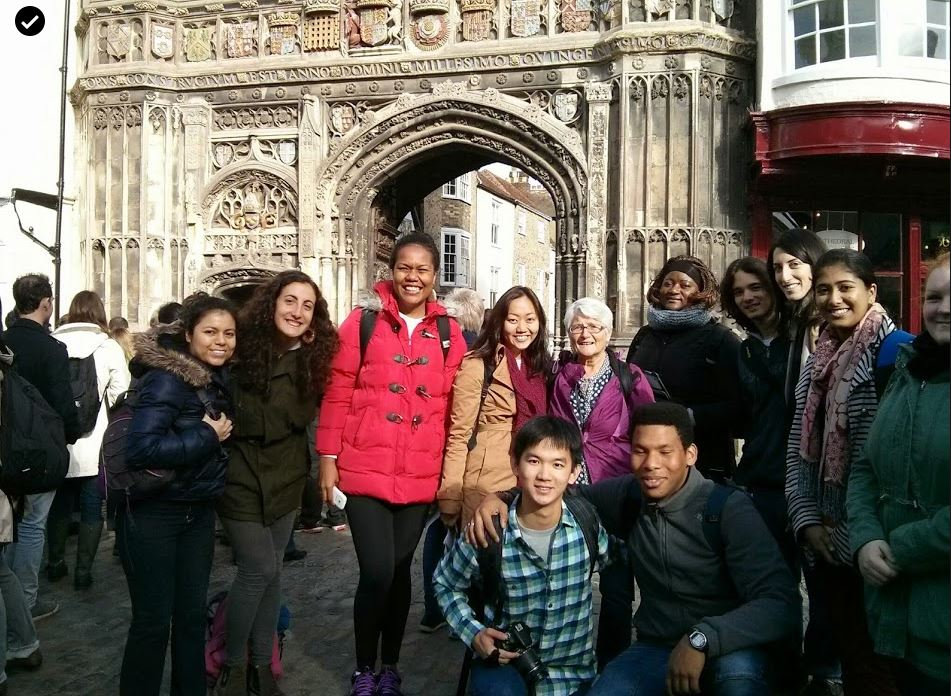 Sr Blanaid, on pilgrimage to Canterbury with students