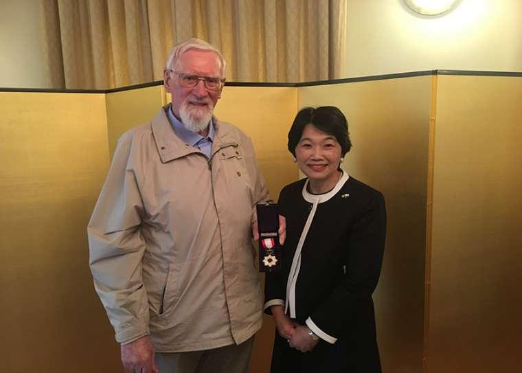 Father Jude with Japan's Ambassador to Ireland, Mari Miyoshi. Credit: Embassy of Japan in Ireland.