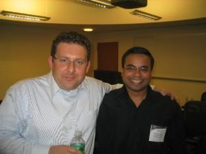 Joe Krebs and Sanjiv Augustine Agile NYC Inaugural Meeting