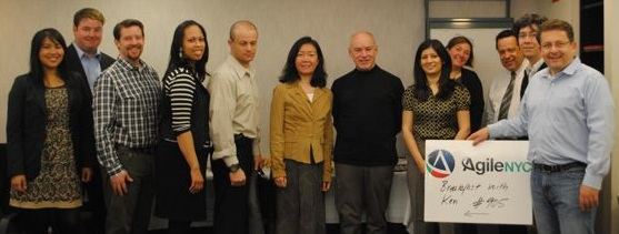 From left to right: Loida Valentin, Timothy Connolly, Matt Raines, Belkis Vasquez-McCall,Gene Gendel, Leila Lau, Ken Schwaber, Zainab Alikhan, Mary Pratt, Marcelo DeOliveira, Ken Judy, Jochen Krebs