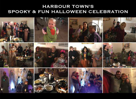Harbour Town residents enjoyed fun, food, and fellowship at their community Halloween party. Kids and adults dressed up in costumes and celebrated a safe holiday with friends and family.