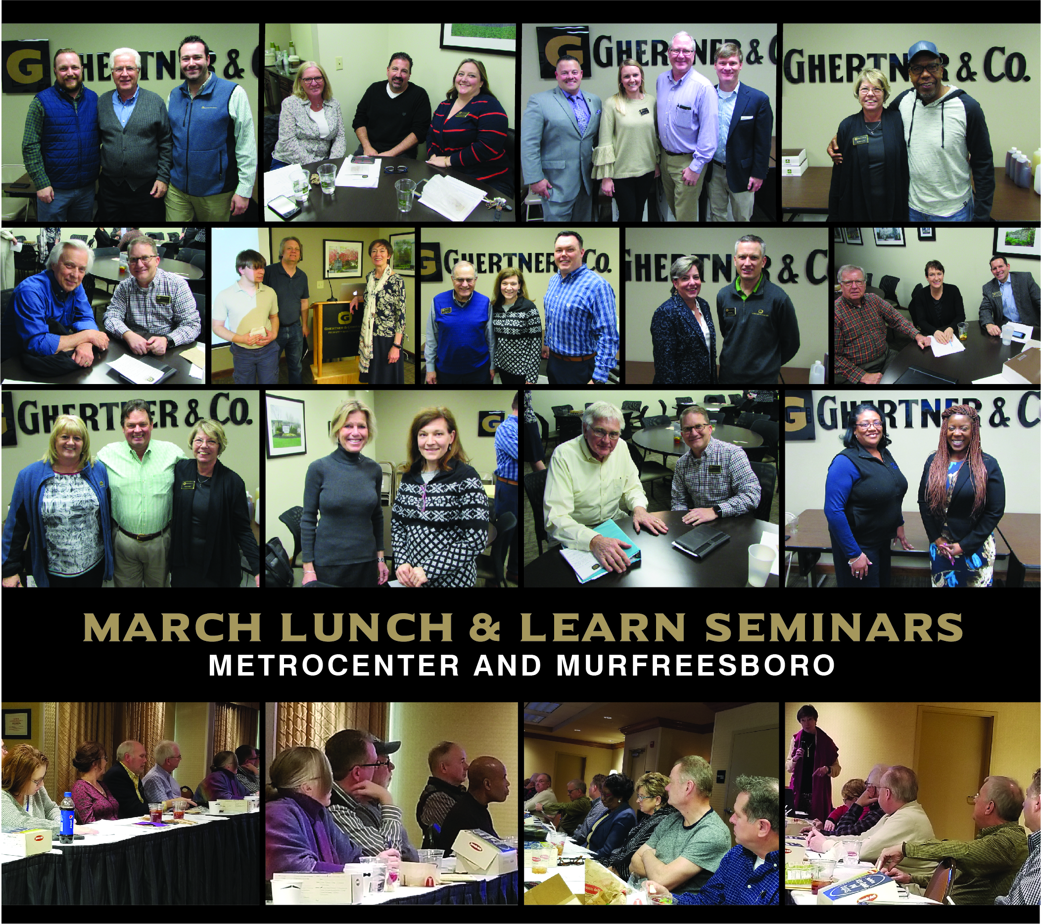 Monthly Lunch & Learn workshops are presented on a variety of topics to better inform and equip HOA Board of Directors in their role. HOAs managed by Ghertner & Company can have their Board members attend at no cost and a complimentary lunch is served. Ask your Community Association Manager about attending or contact Theresa Savich at theresa.savich@ghertner.com.
