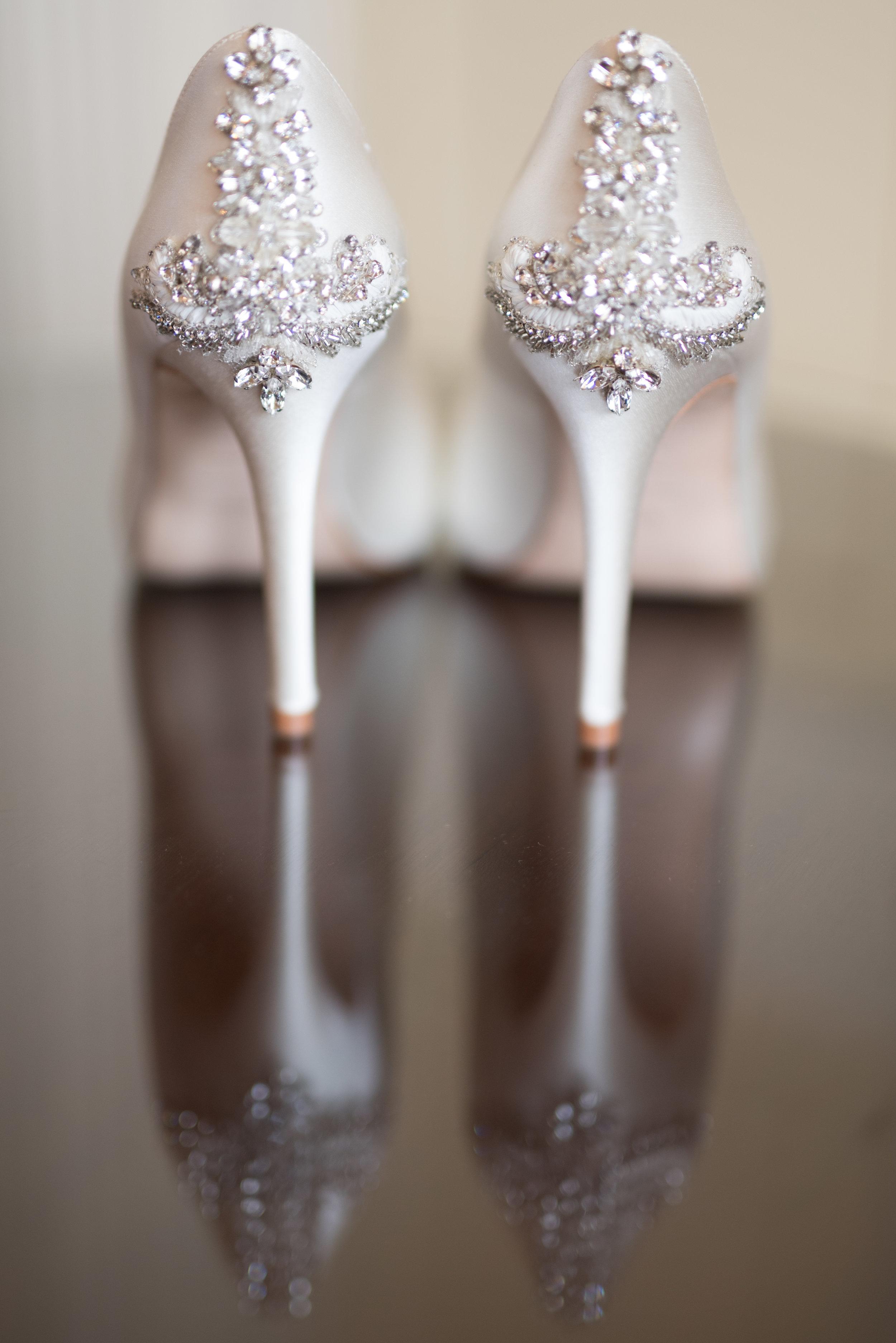 Designer wedding shoes, Buckinghamshire wedding photographer