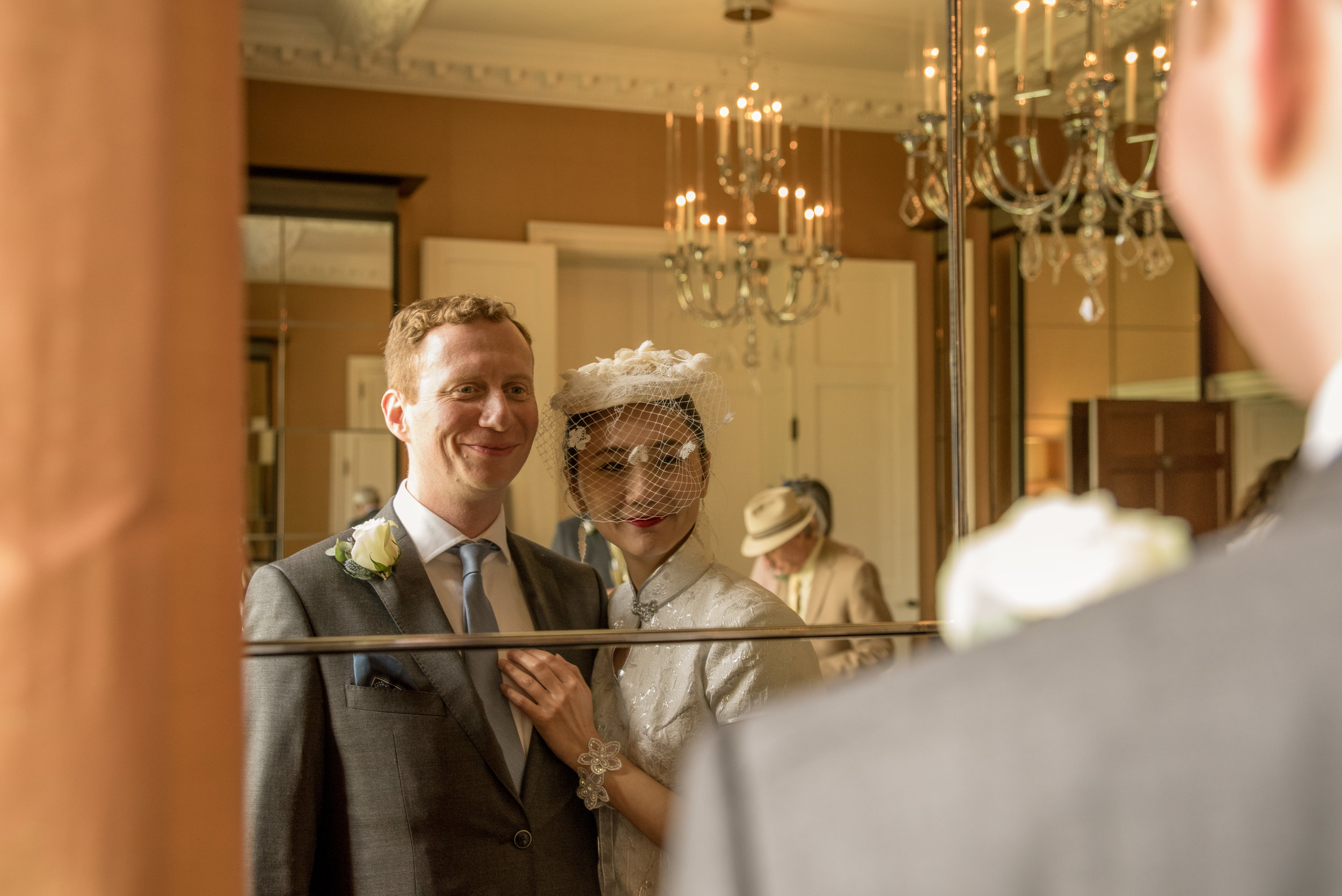 Bride and Groom at The Grove Hotel Chandlers Cross Watford