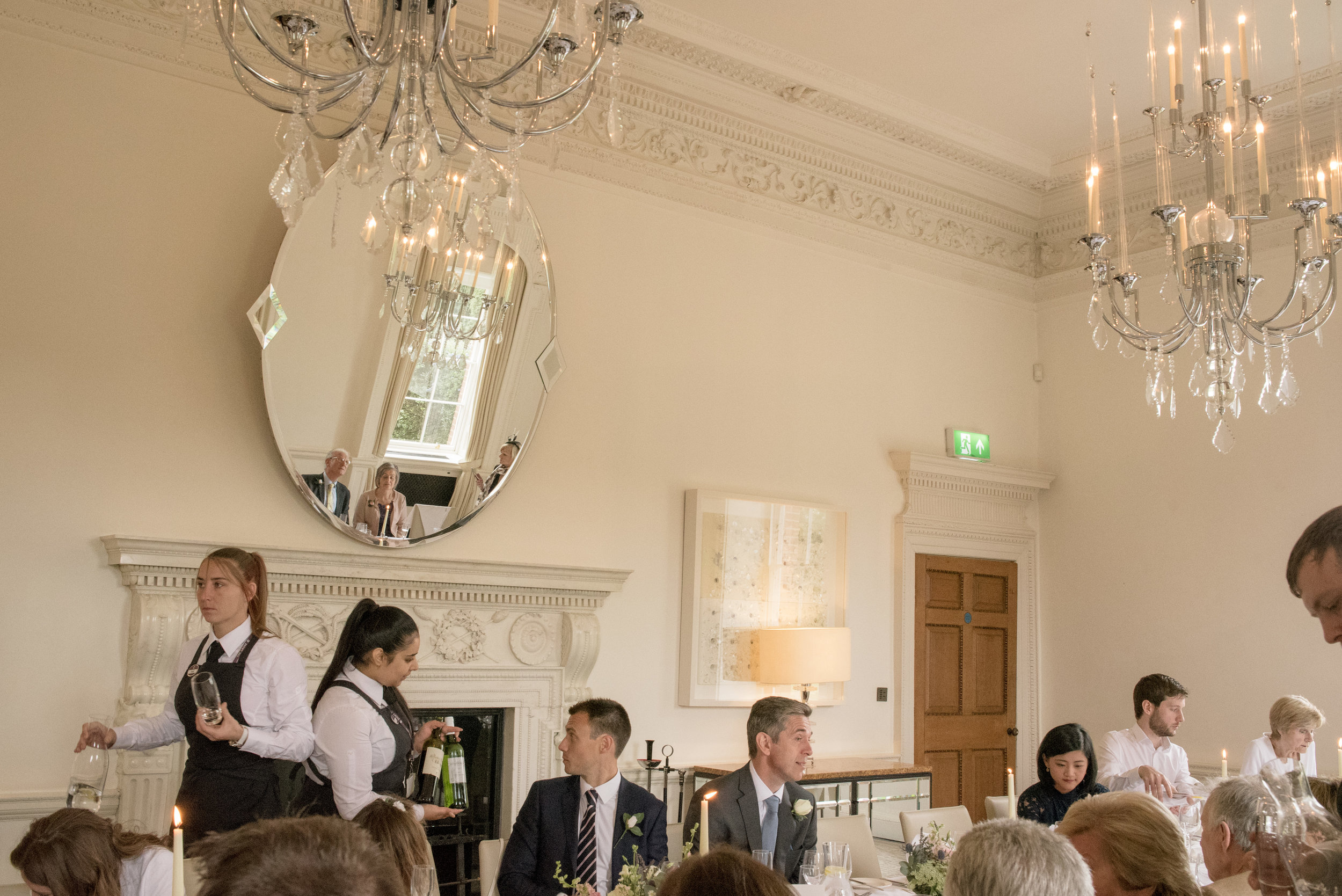 Wedding guests at The Grove Hotel