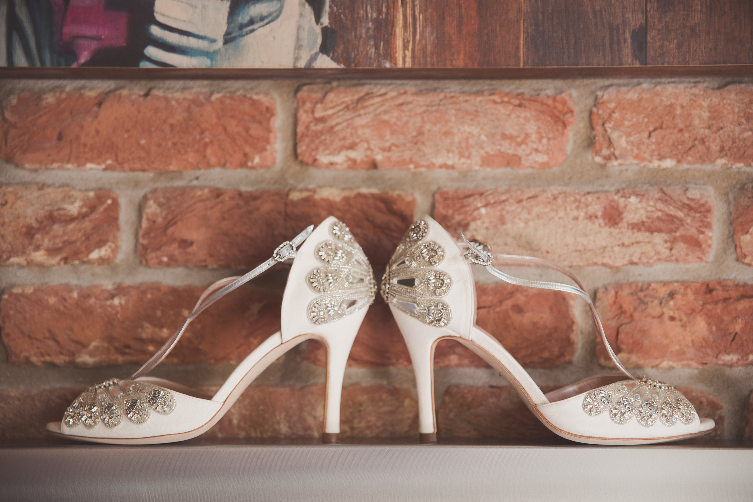 Emmy London bridal shoes. The Curtain Shoreditch London