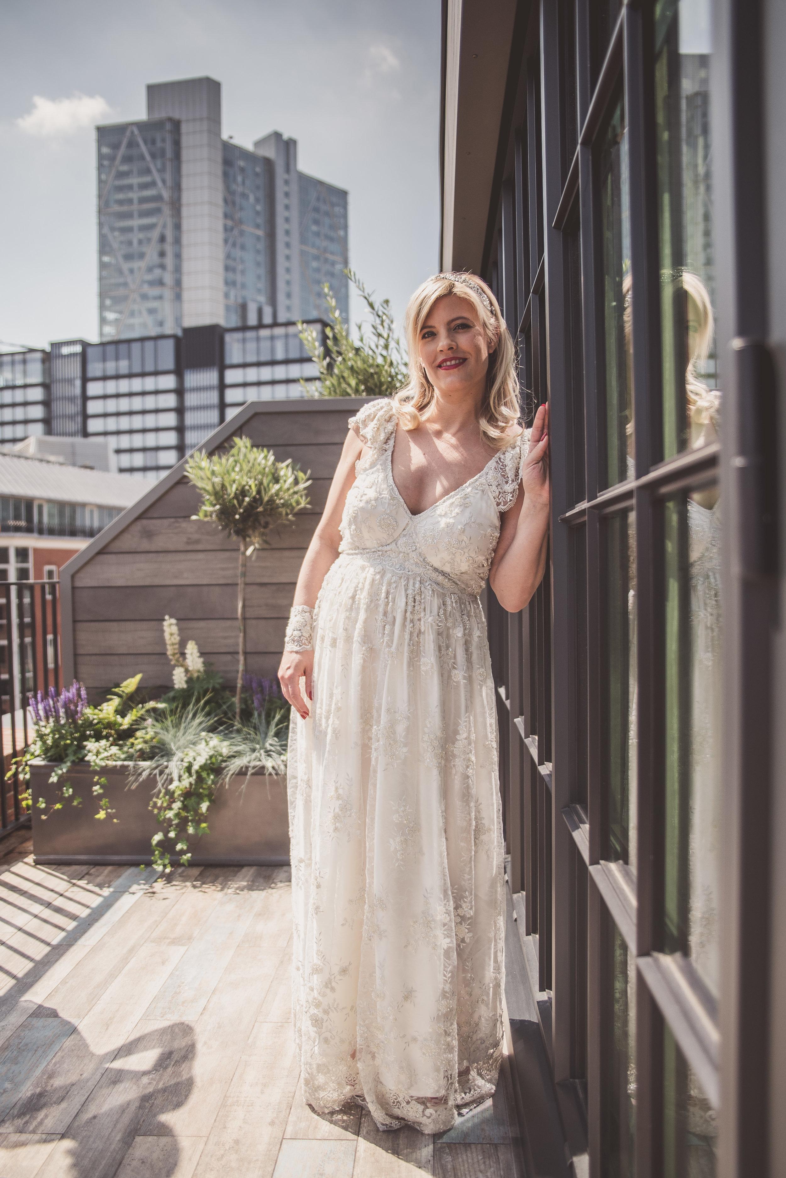 The Curtain bridal, wedding day