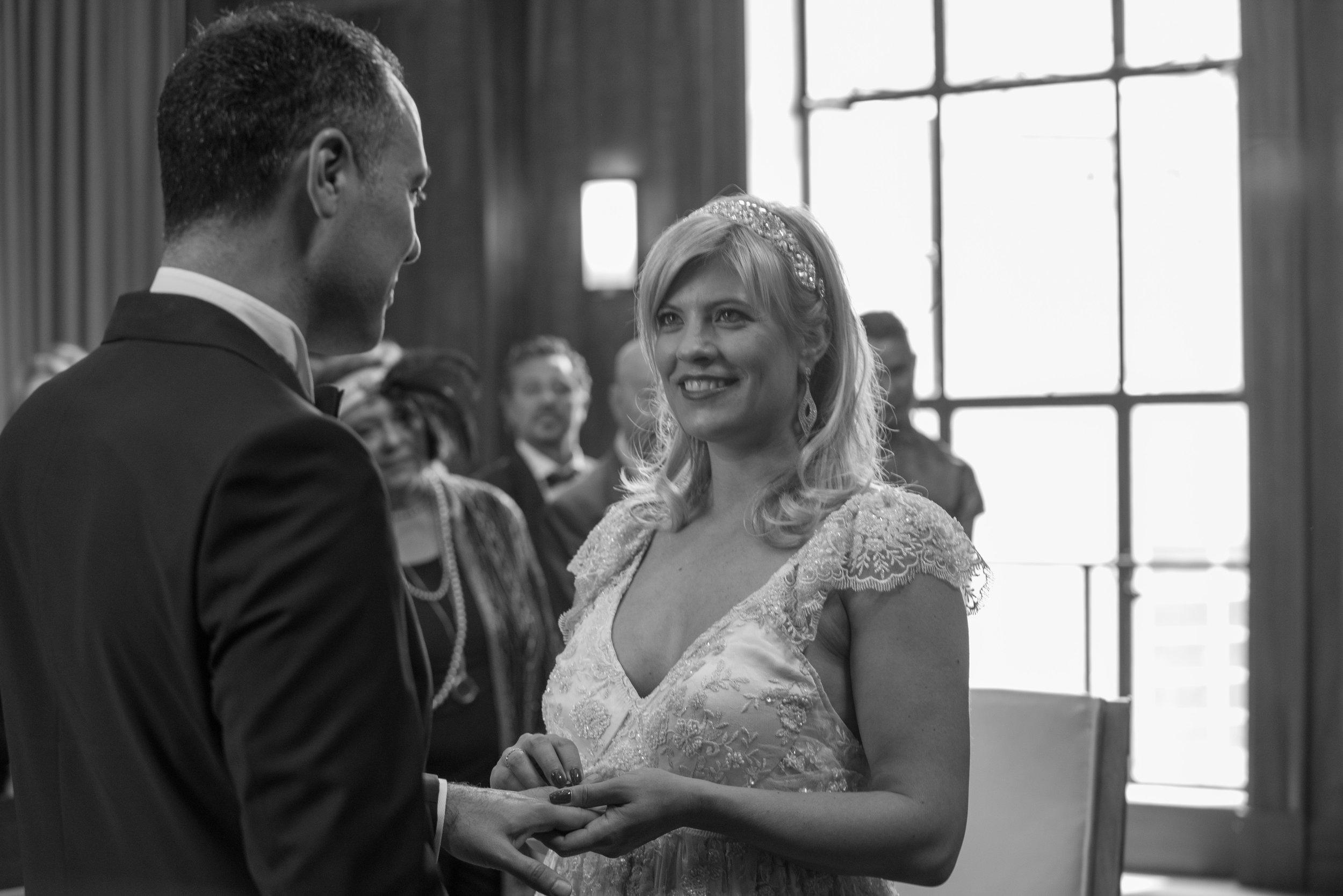 Stoke Newington Town Hall wedding ceremony