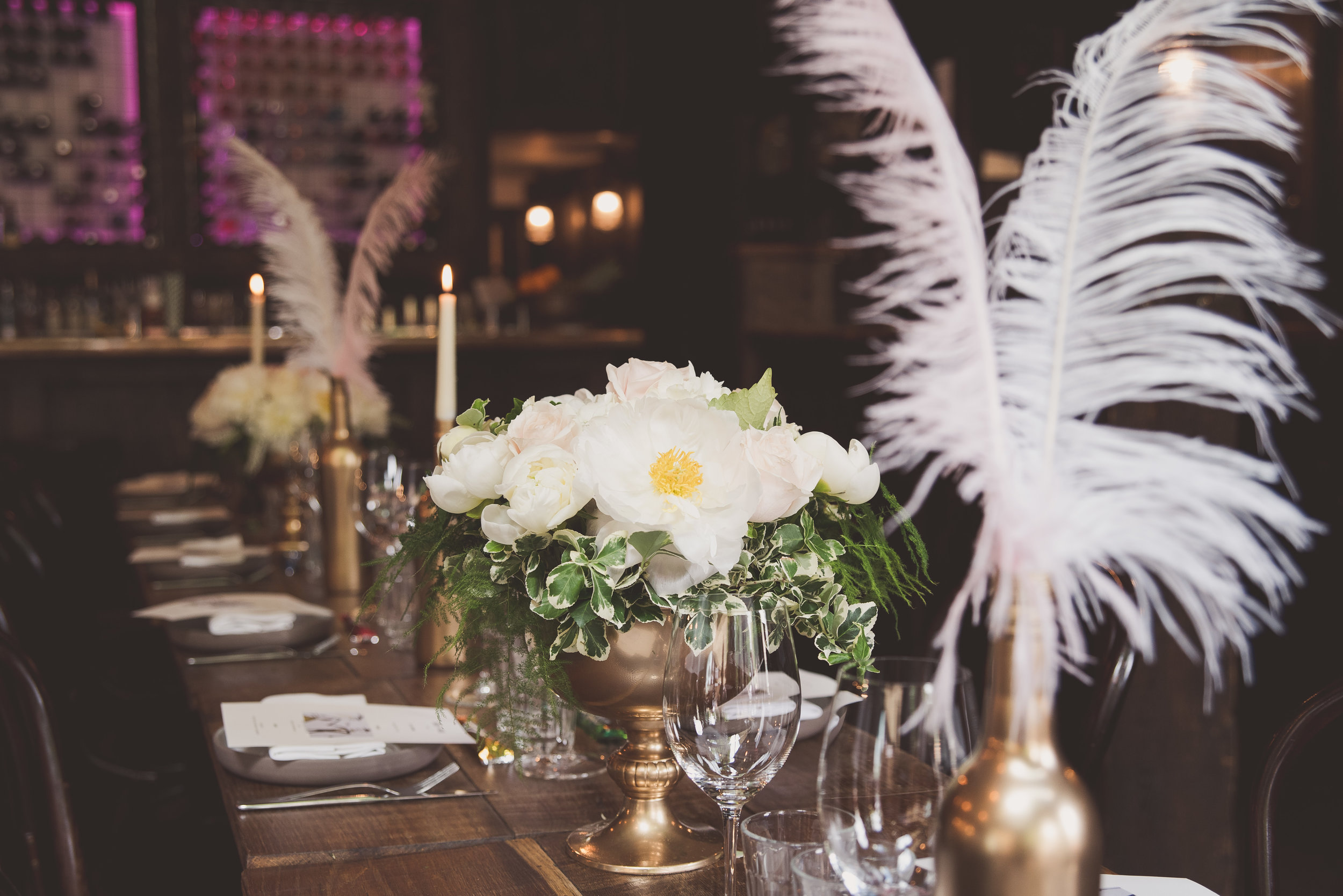 Sager and Wilde wedding reception