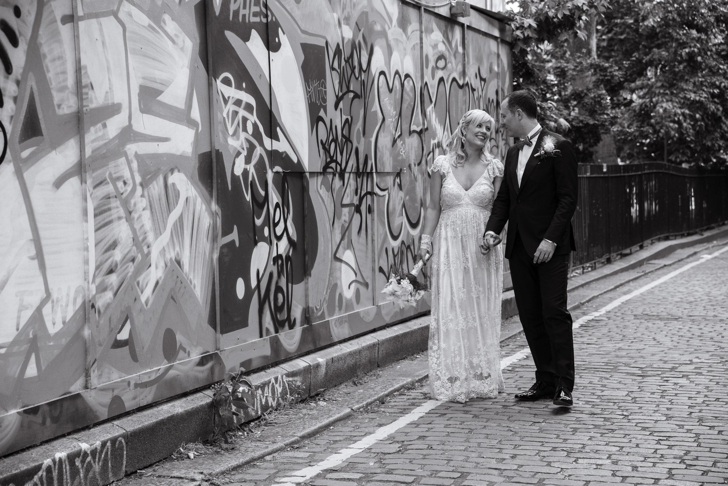 Urban wedding photography. London wedding photography.