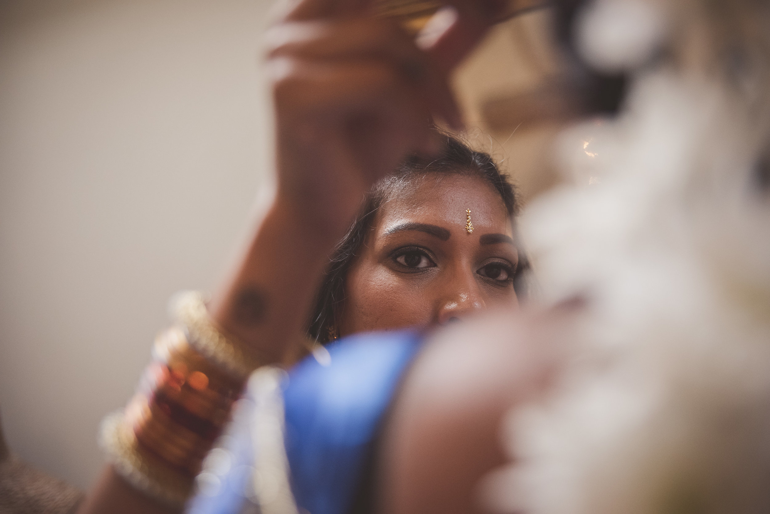 Hindu Asian bridal preparations