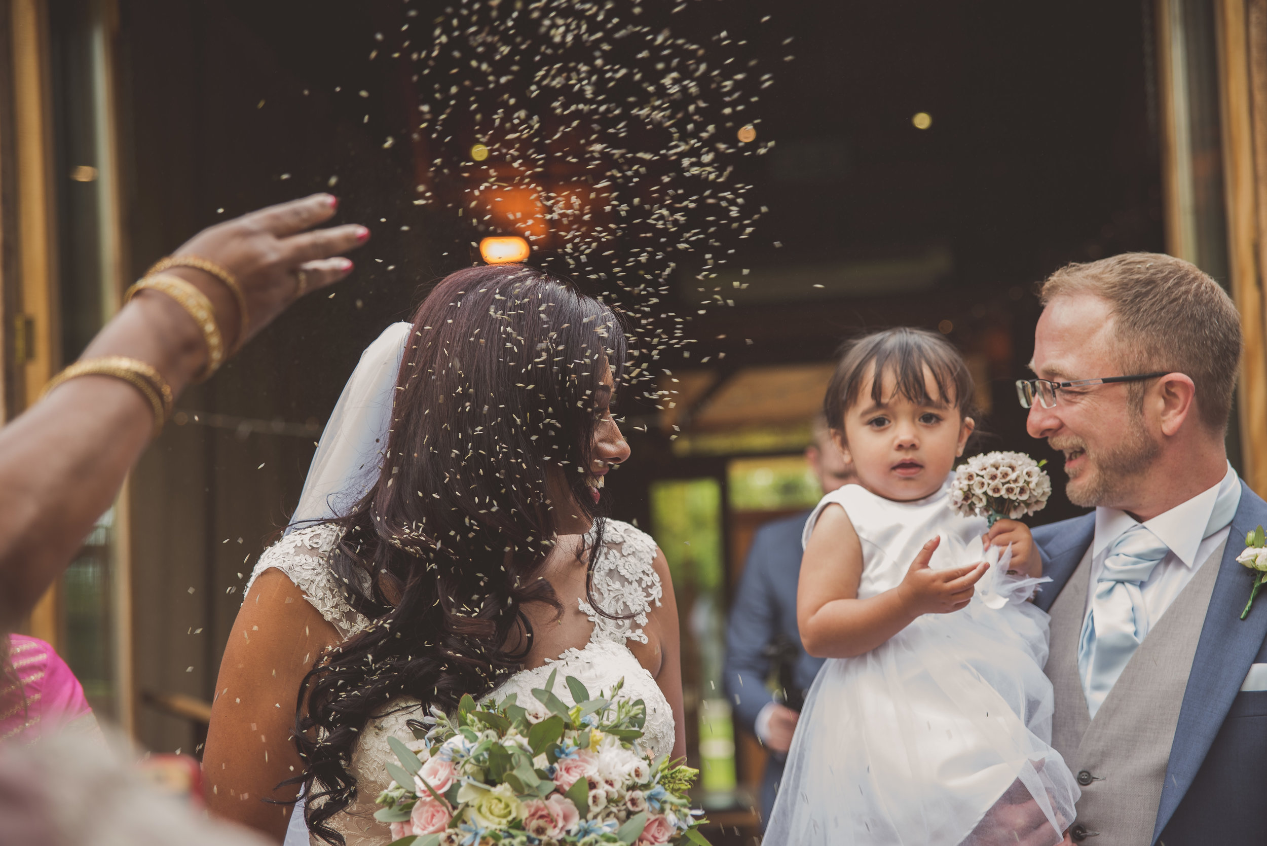 Confetti at The Tythe Barn Taunton Oxfordshire