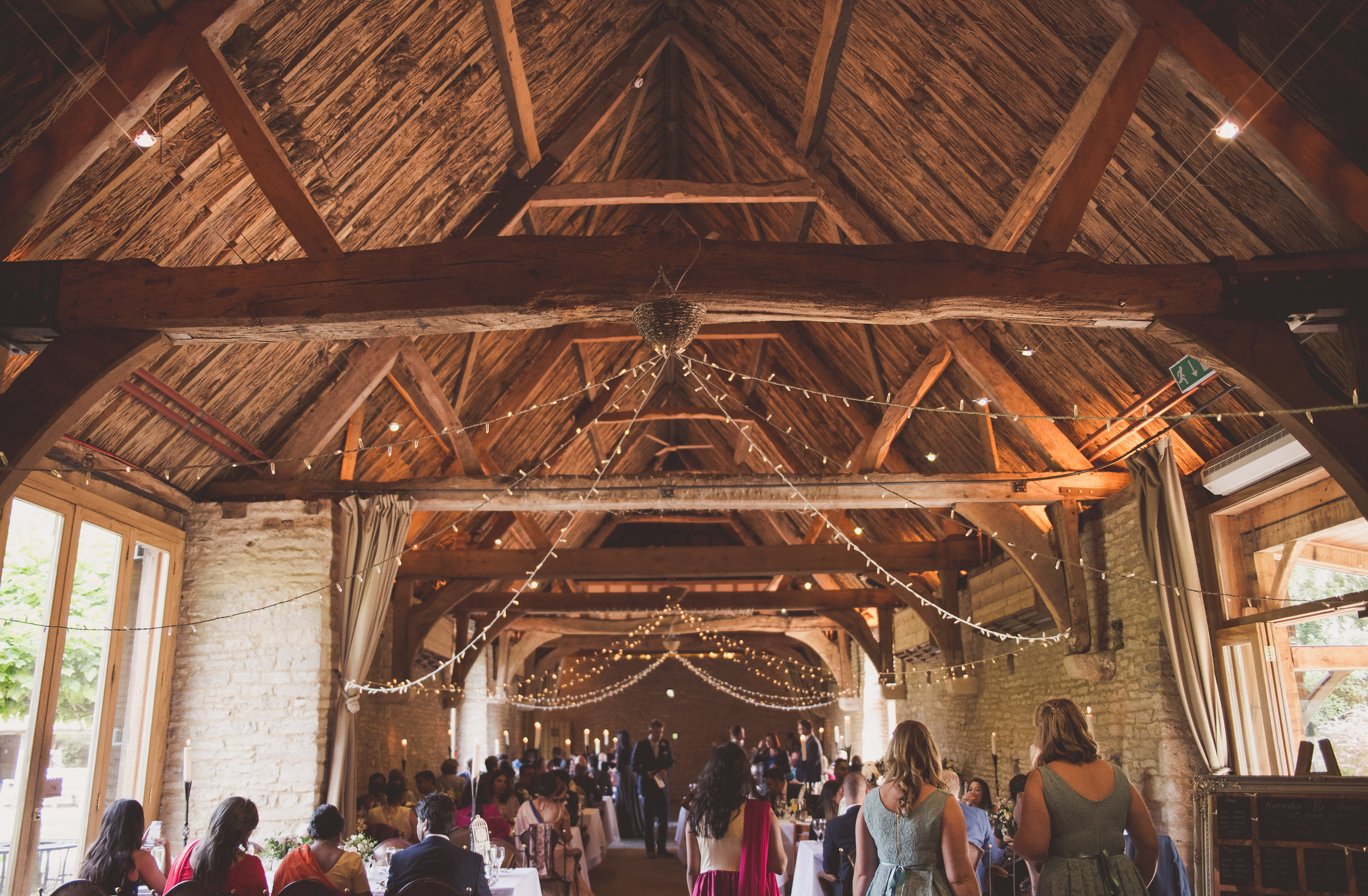 The Tythe Barn set up for a wedding