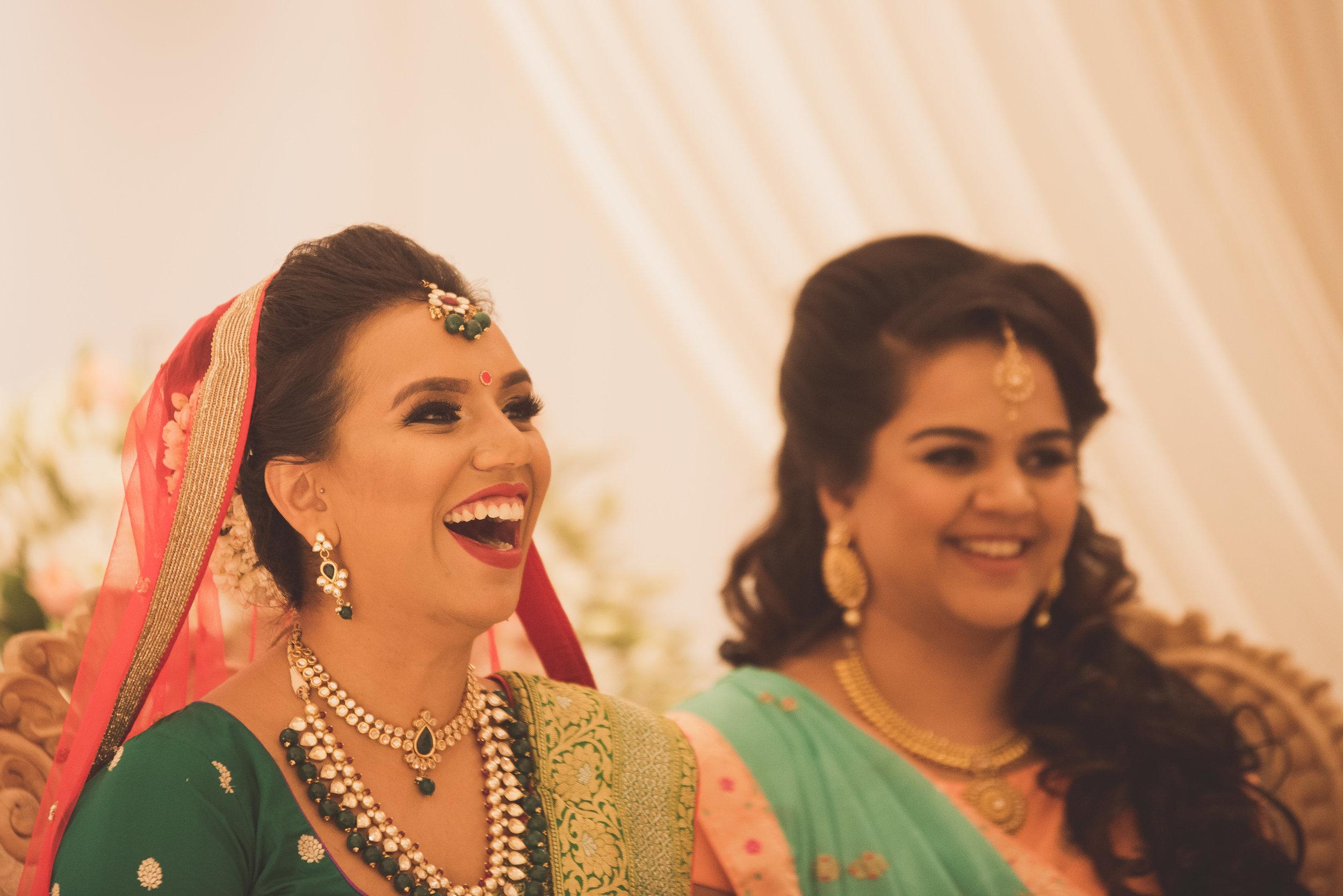 Hindu bride at the Oshwal Centre