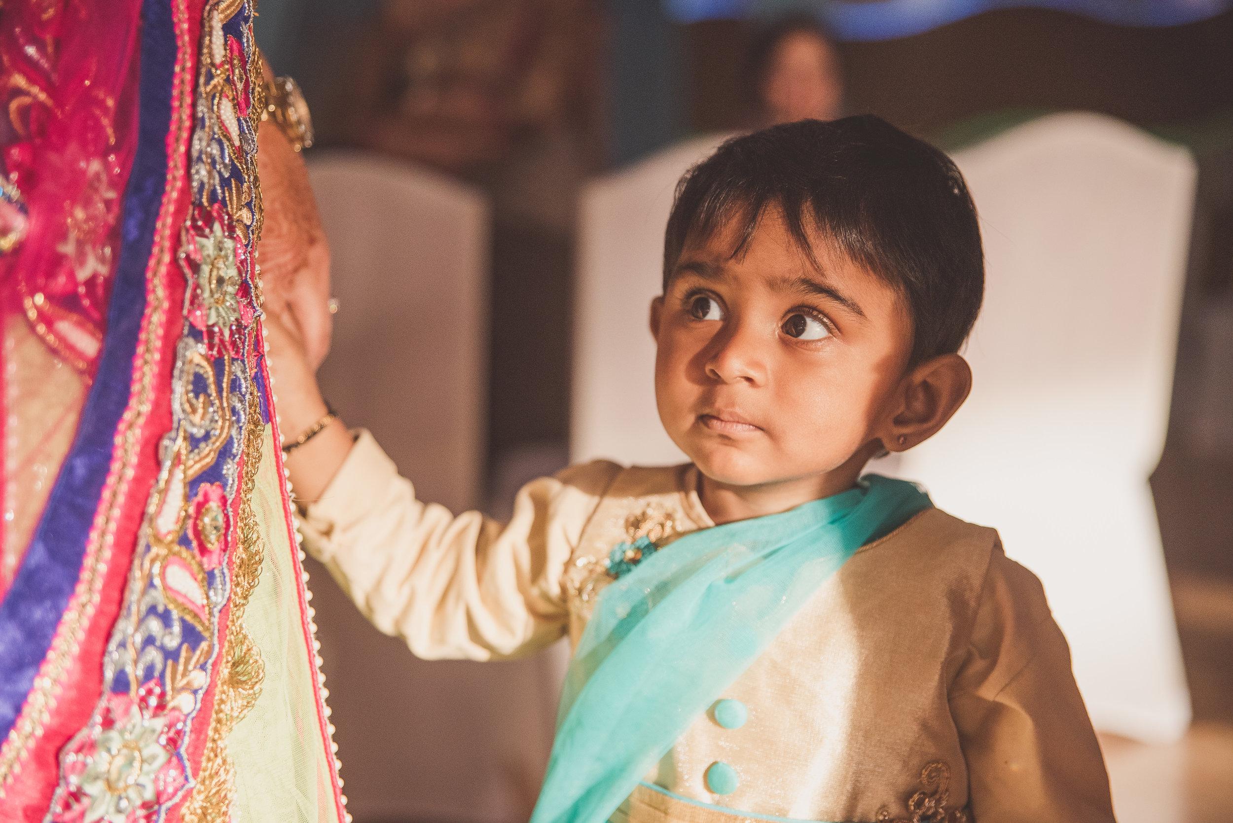 Hindu girl at wedding
