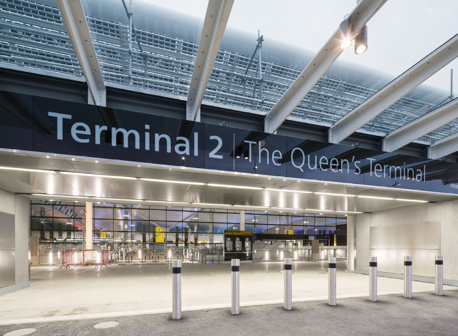 Entrance Gate from the top level of the Car Park to the Queen's Terminal