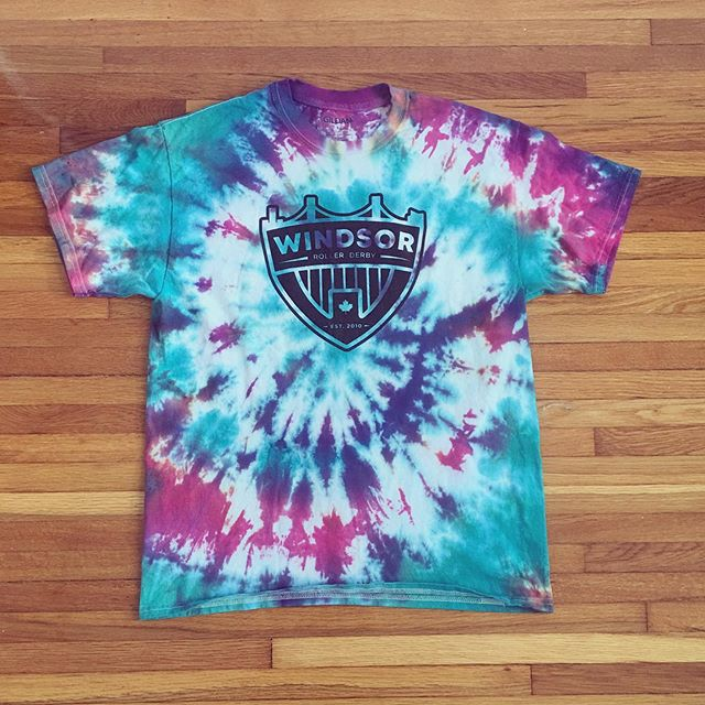 We went full derby diy for this weekend! Grab your one-of-a-kind WRD tie dye at Windsor-Essex Pride fest! We will be donating a portion of each T-shirt sale to a local LGBTQ2S group!