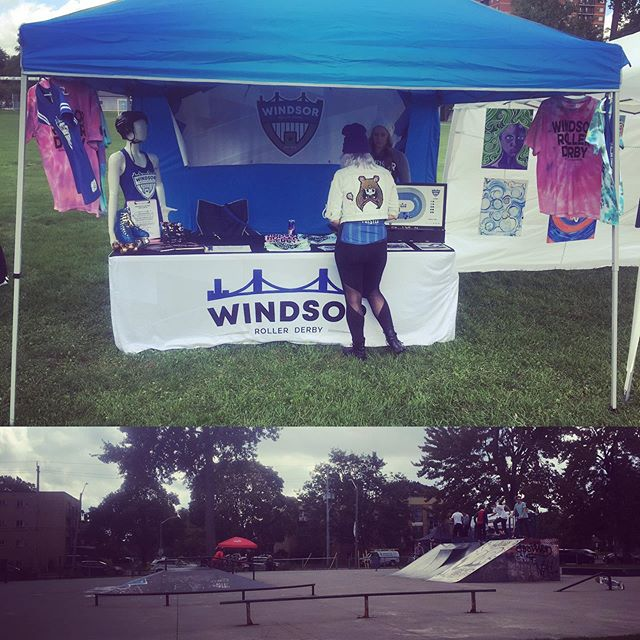 Look for the blue tent at Vert! We're here all afternoon at Atkinson Skatepark.