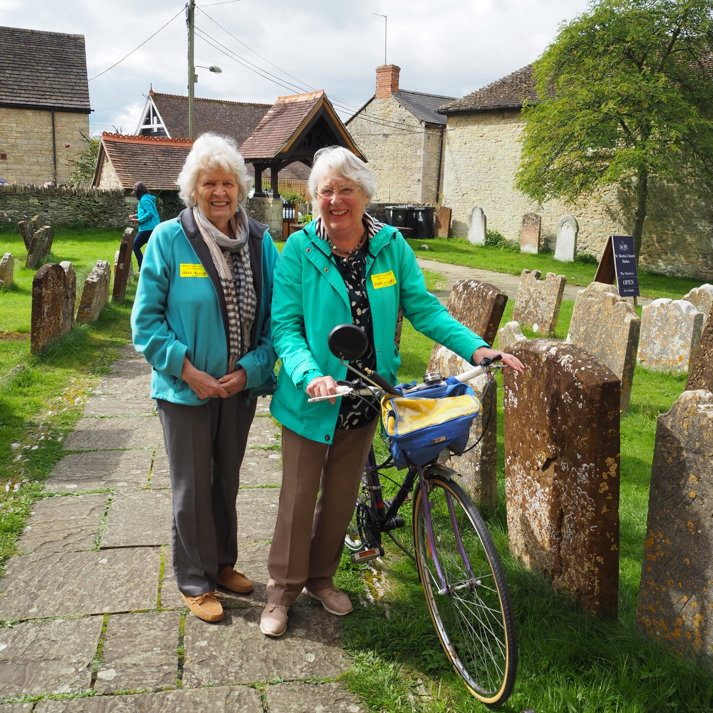 Mollie and Barbara, Bladon, Ride and Stride 2017