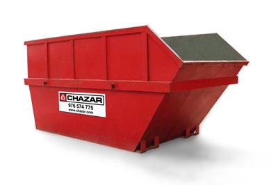 Apto para escombros o residuos de mucha densidad. Fácil instalación en espacios reducidos.  MEDIDAS:3.8 x 1.8 x 1.6 m